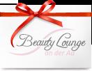 weisser Umschlag mit roter Schleife und Beauty Lounge Logo